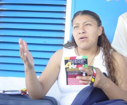 Rocelia sharing the Gospel